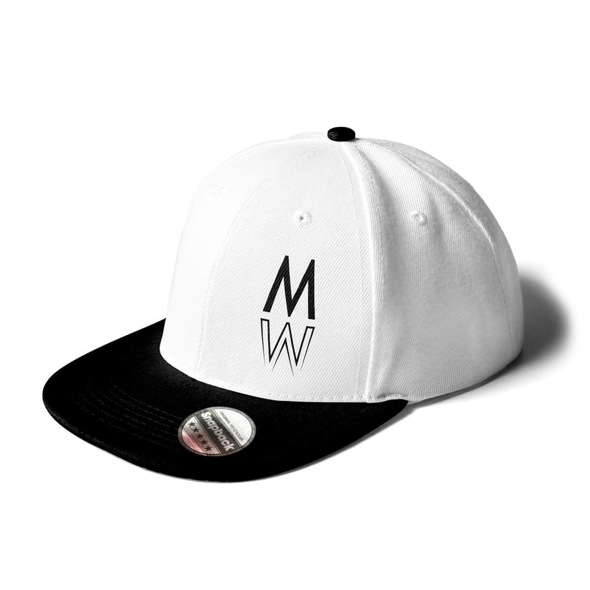 Cap Snapback Marie Winter weiß-schwarz