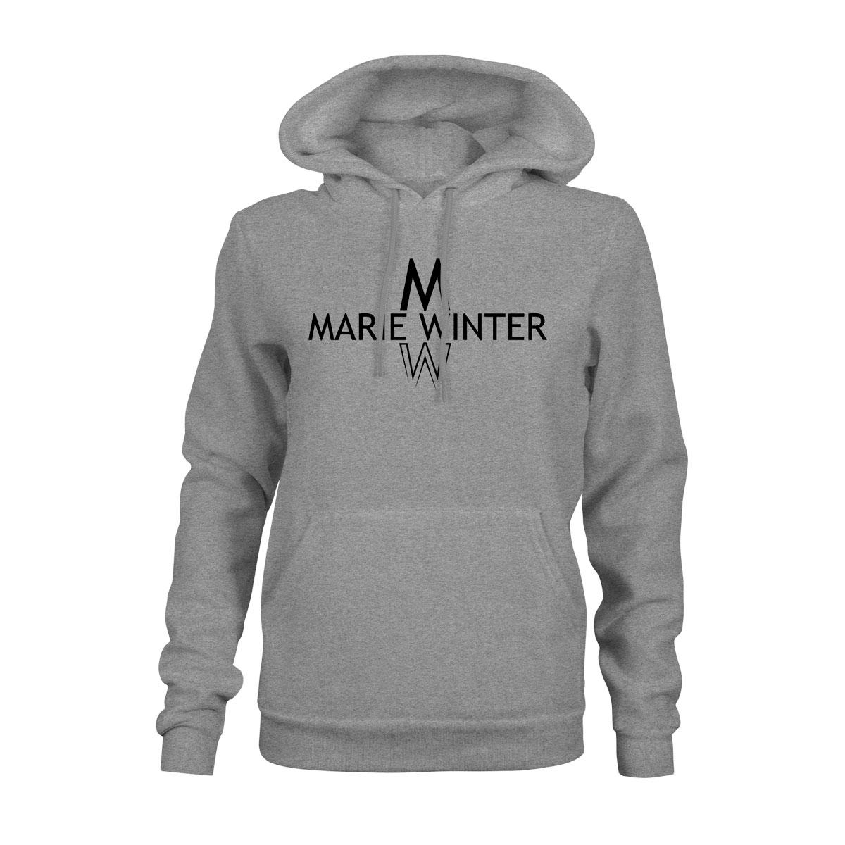 Marie Winter Hoodie Damen grau