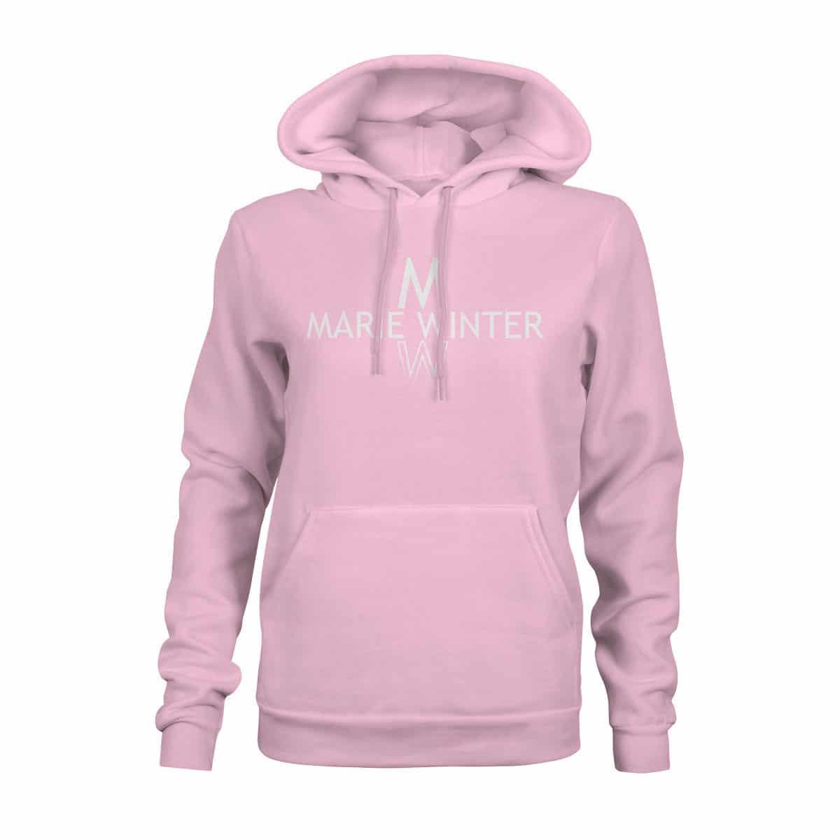 Marie Winter Hoodie Damen rosa