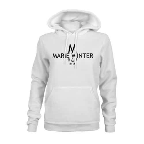 Marie Winter Hoodie Damen weiß
