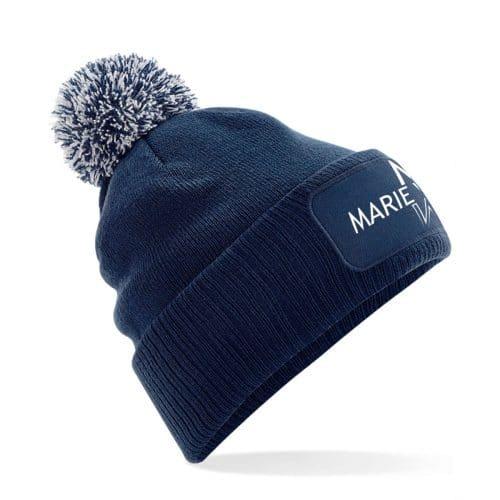 Mütze mit Bommel Marie Winter navy