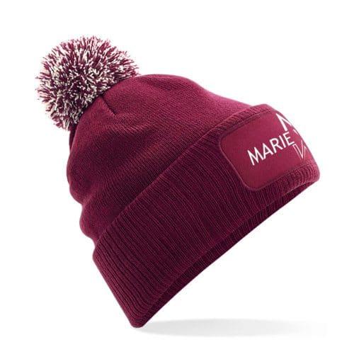 Mütze mit Bommel Marie Winter burgundy