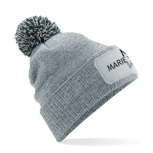 Mütze mit Bommel Marie Winter grau