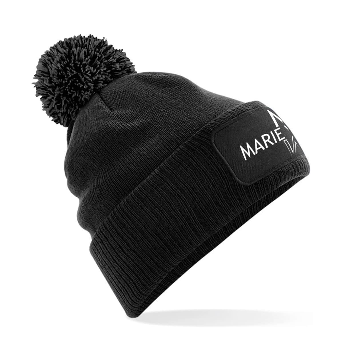 Mütze mit Bommel Marie Winter schwarz