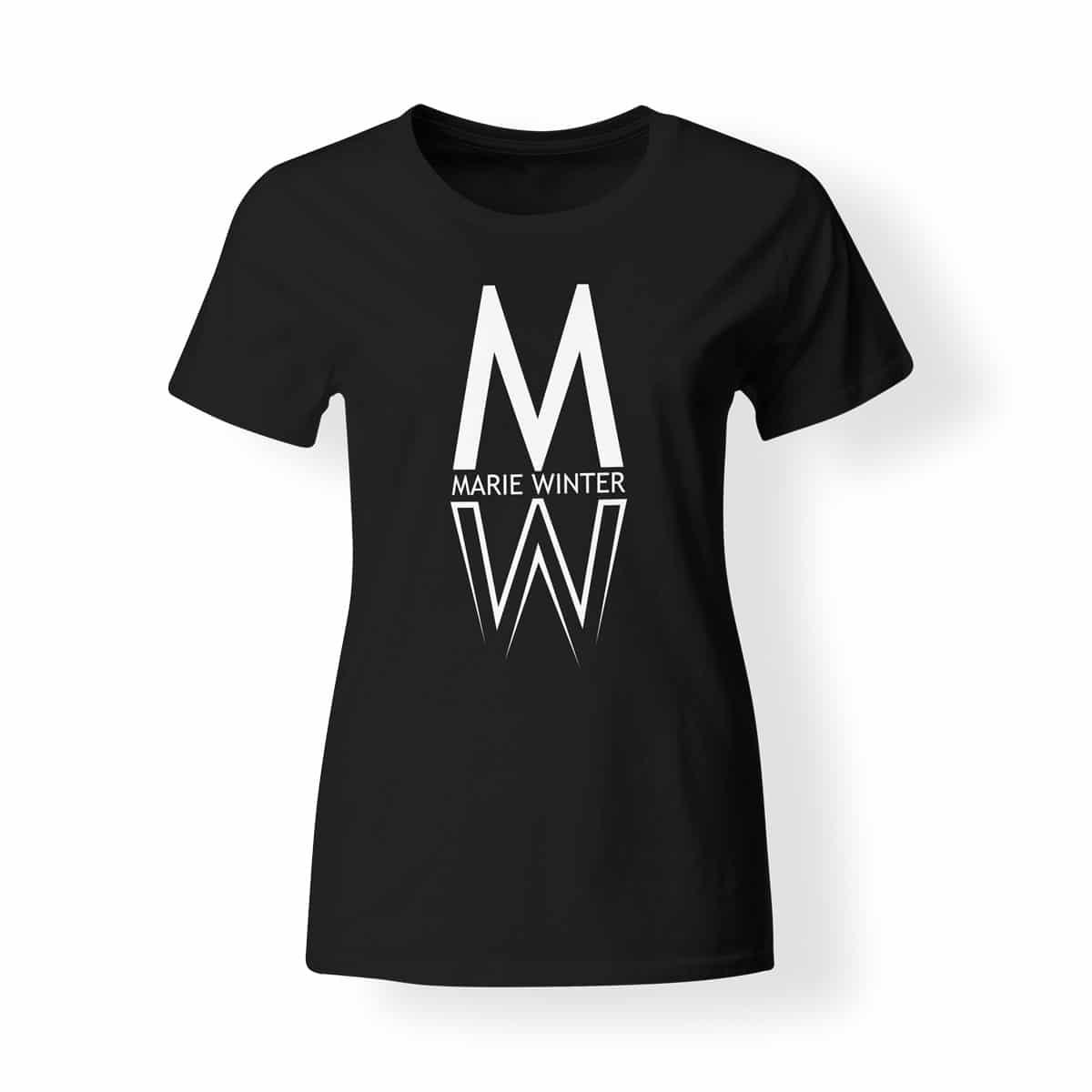 Marie Winter Damen T-Shirt schwarz