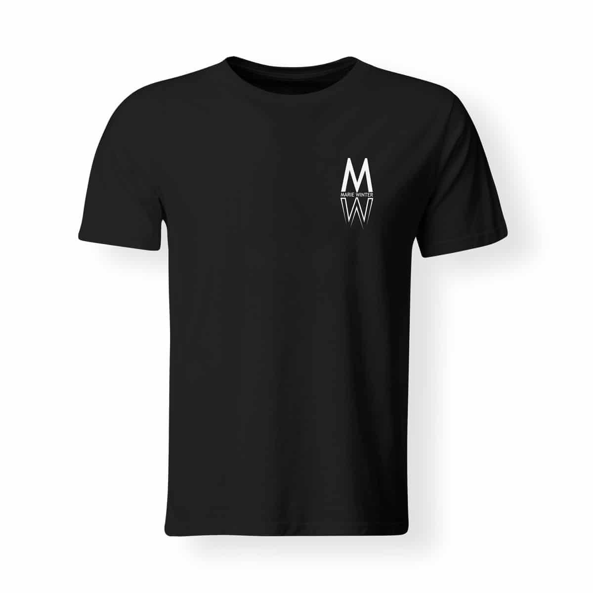 T-Shirt Marie Winter Herren schwarz