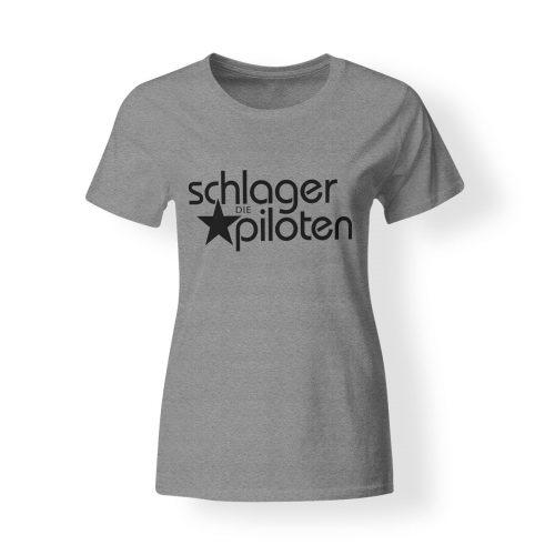 Schlagerpiloten T-Shirt Damen grau