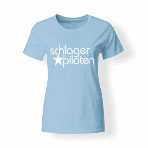 Schlagerpiloten T-Shirt Damen hellblau