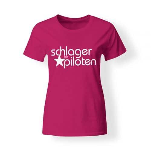 Schlagerpiloten T-Shirt Damen pink