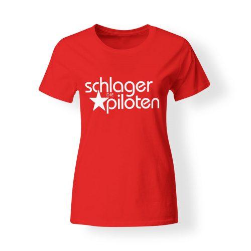 Schlagerpiloten T-Shirt Damen rot