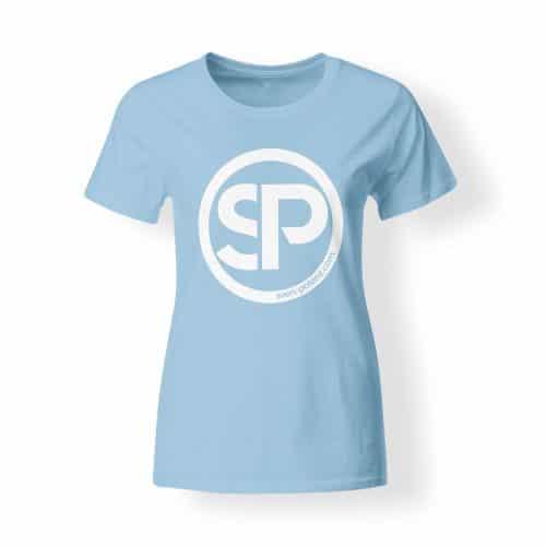 T-Shirt Damen Sven Polenz hellblau