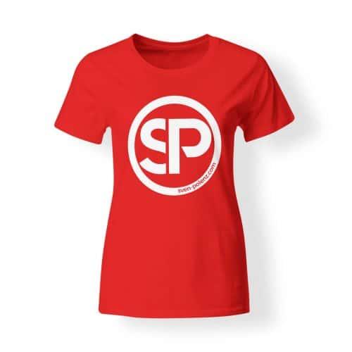 T-Shirt Damen Sven Polenz rot