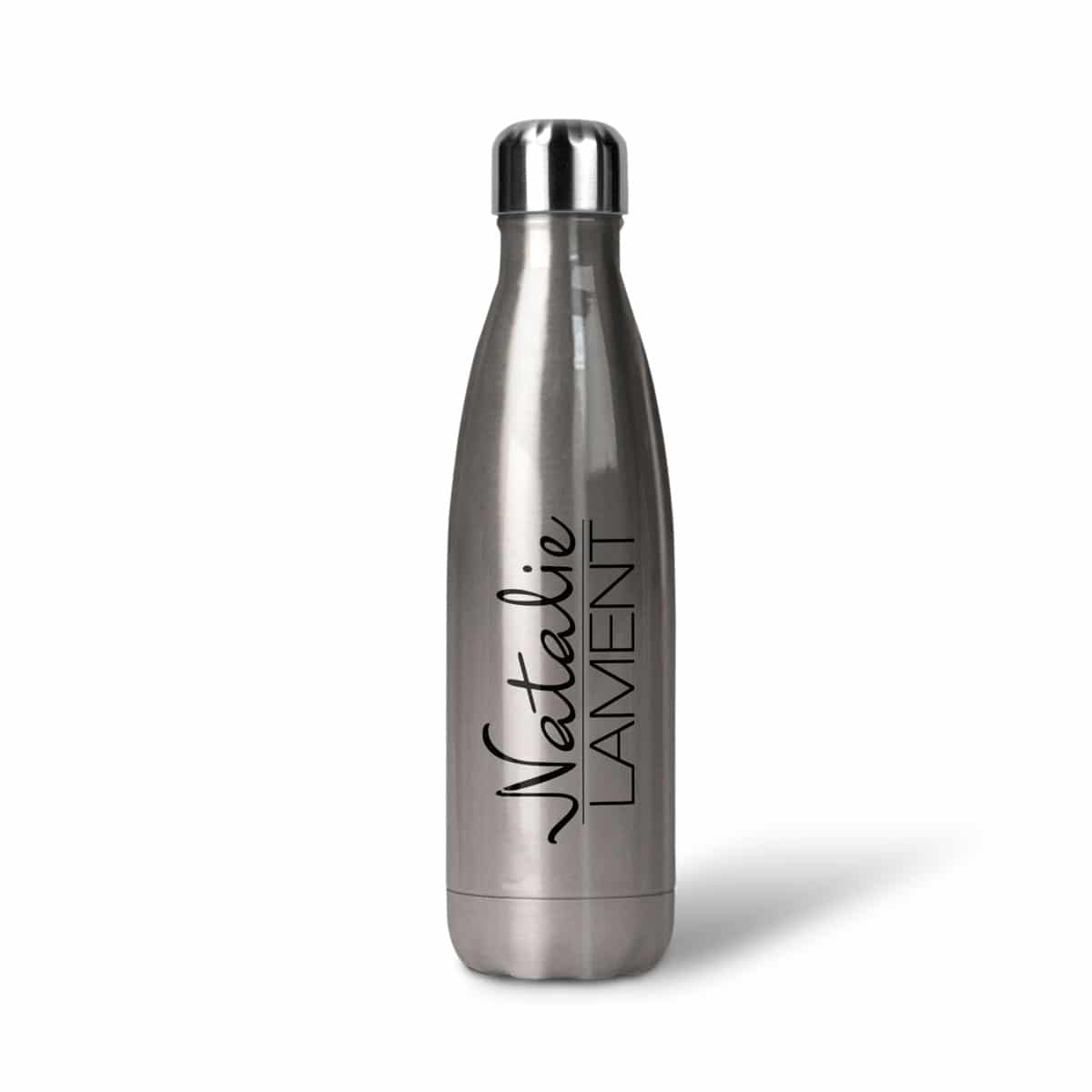 Natalie Lament Thermosflasche Edelstahl Logo