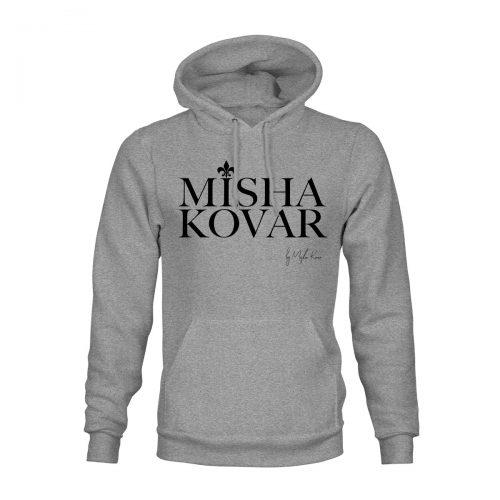 Hoodie Unisex Misha Kovar Logo grau