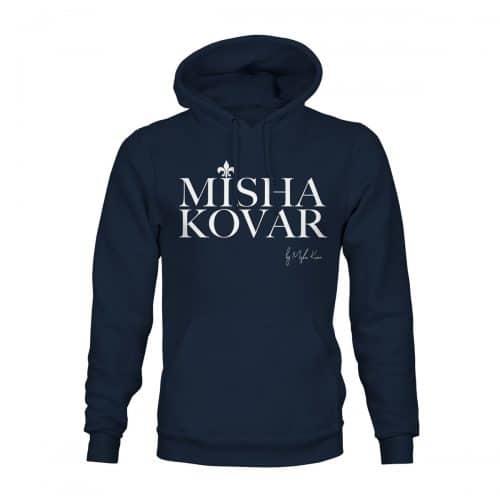 Hoodie Unisex Misha Kovar Logo navy