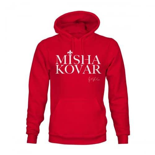 Hoodie Unisex Misha Kovar Logo rot