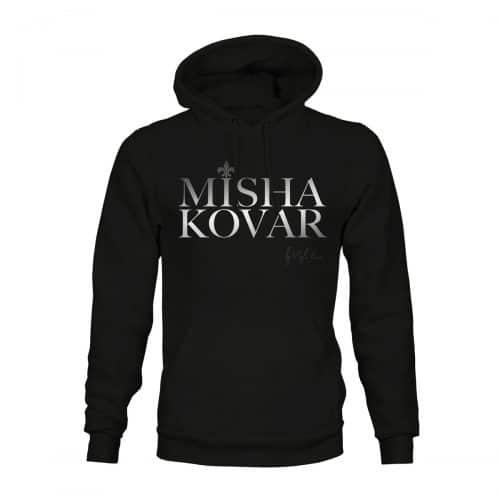 Hoodie Unisex Misha Kovar Logo schwarz
