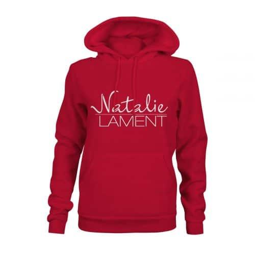 Hoodie Damen Natalie Lament rot