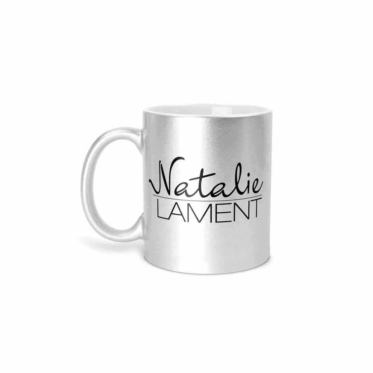 Tasse Natalie Lament Silber Logo
