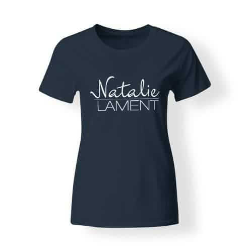 Damen T-Shirt Natalie Lament Logo navy