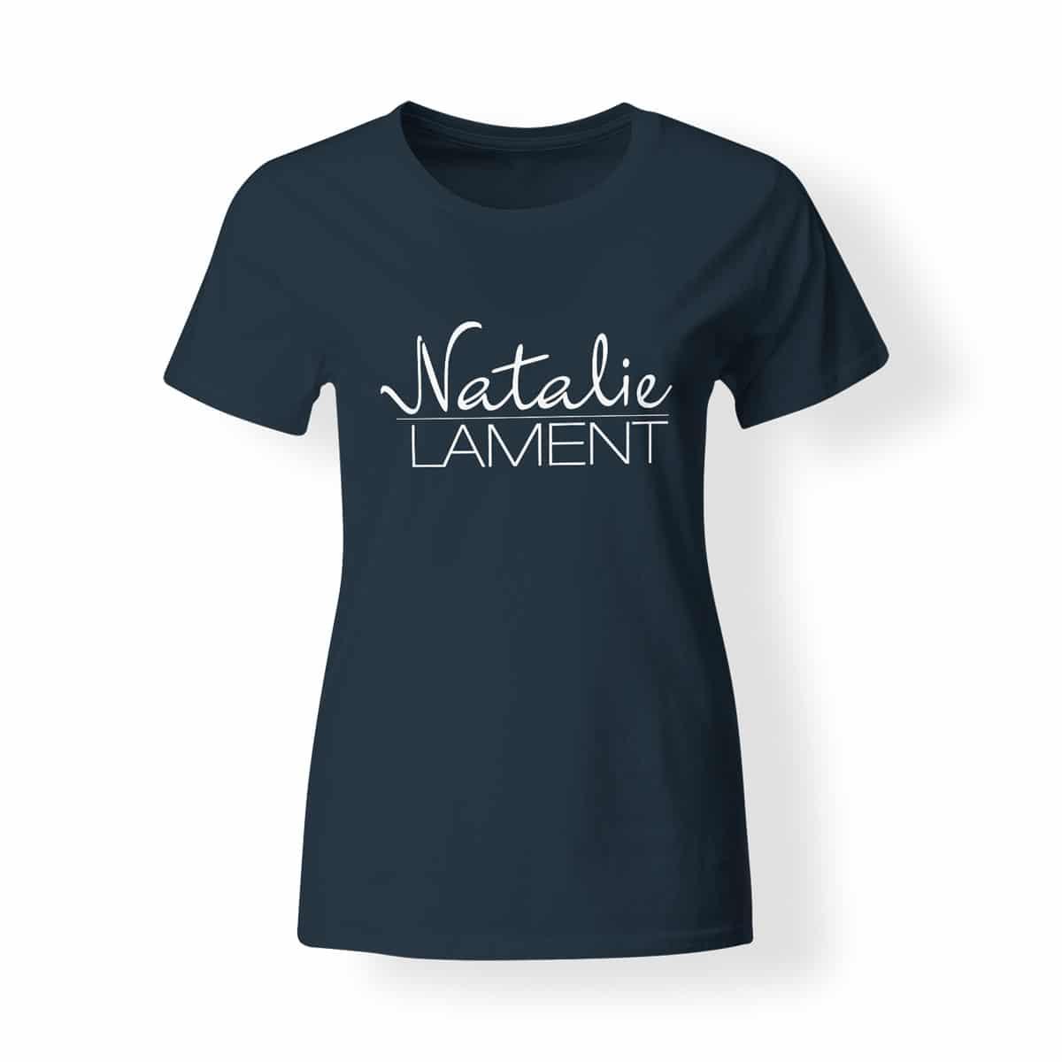 Damen T-Shirt Natalie Lament Logo navy