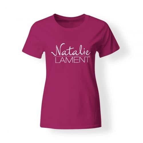 Damen T-Shirt Natalie Lament Logo pink