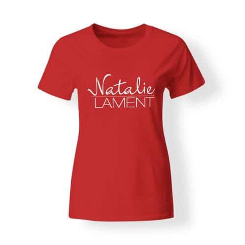 Damen T-Shirt Natalie Lament Logo rot