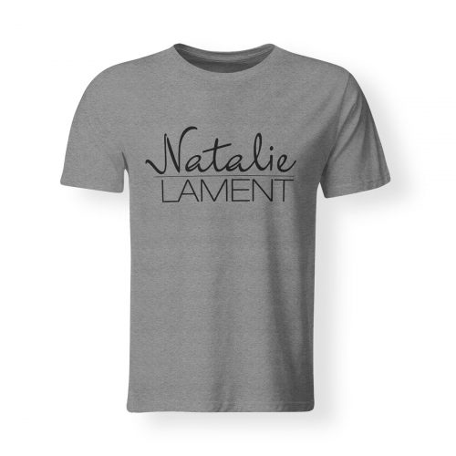 T-Shirt Natalie Lament Logo grau