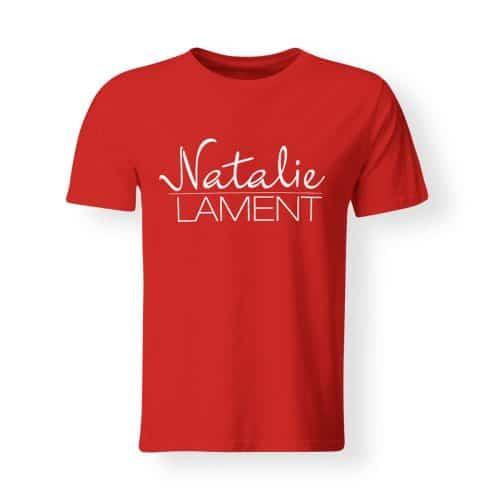 T-Shirt Natalie Lament Logo rot