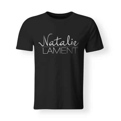T-Shirt Natalie Lament Logo schwarz