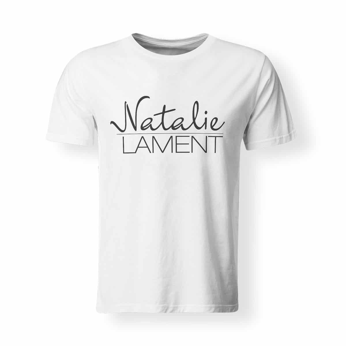 T-Shirt Natalie Lament Logo weiß