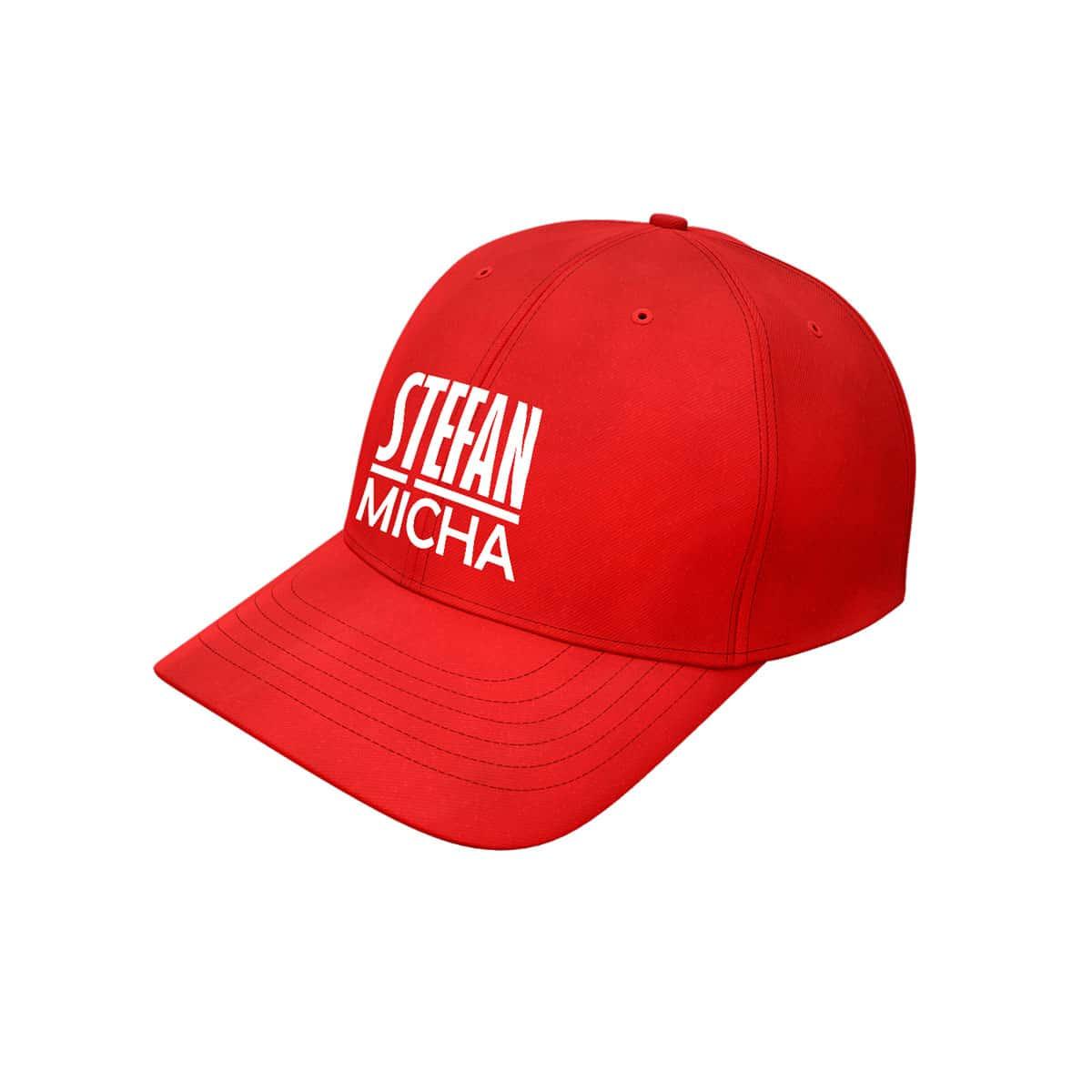 Baseball Cap Stefan Micha Logo rot