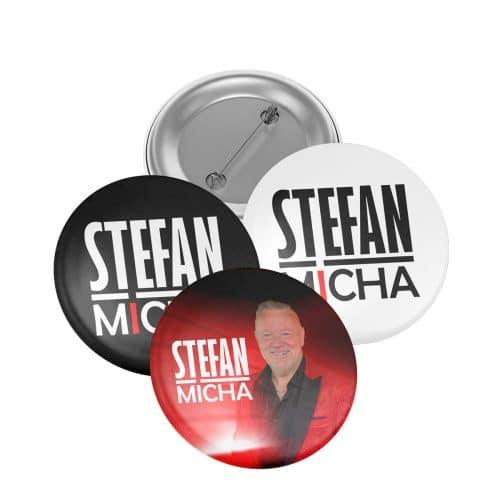 Ansteck Buttons Stefan Micha 3er Set