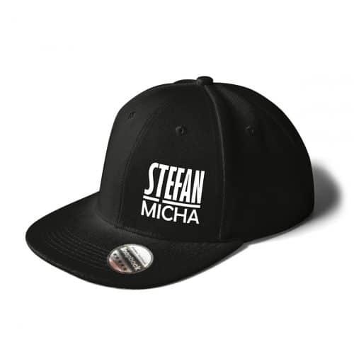 Cap Snapback Stefan Micha Logo schwarz