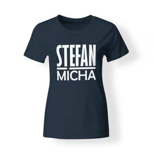 T-Shirt Damen Stefan Micha navy