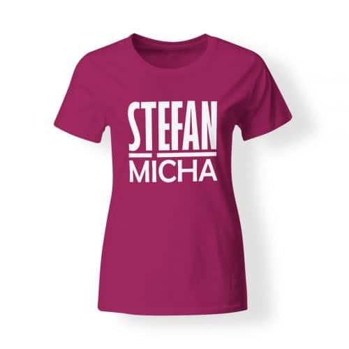 T-Shirt Damen Stefan Micha pink