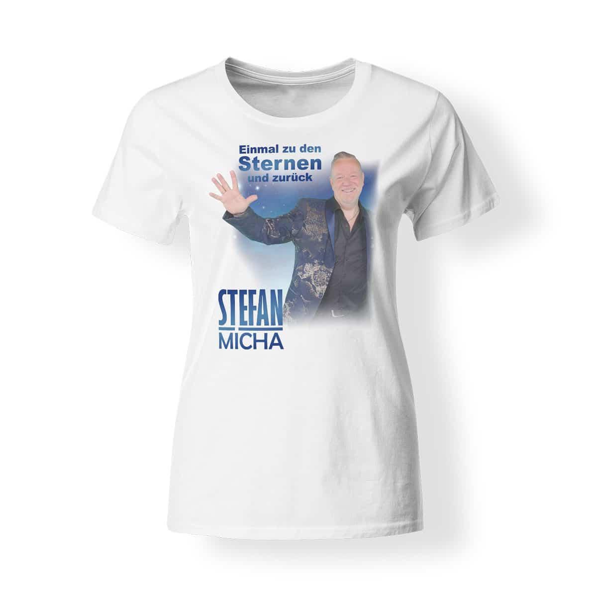 T-Shirt Stefan Micha Damen Fotomotiv Einmal zu den Sternen und zurück