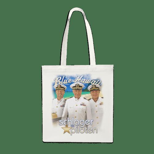 schlagerpiloten stofftasche blue hawaii