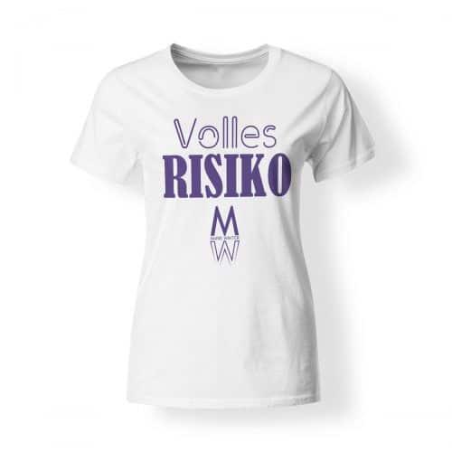 T-Shirt Marie Winter Volles Risiko Damen weiß