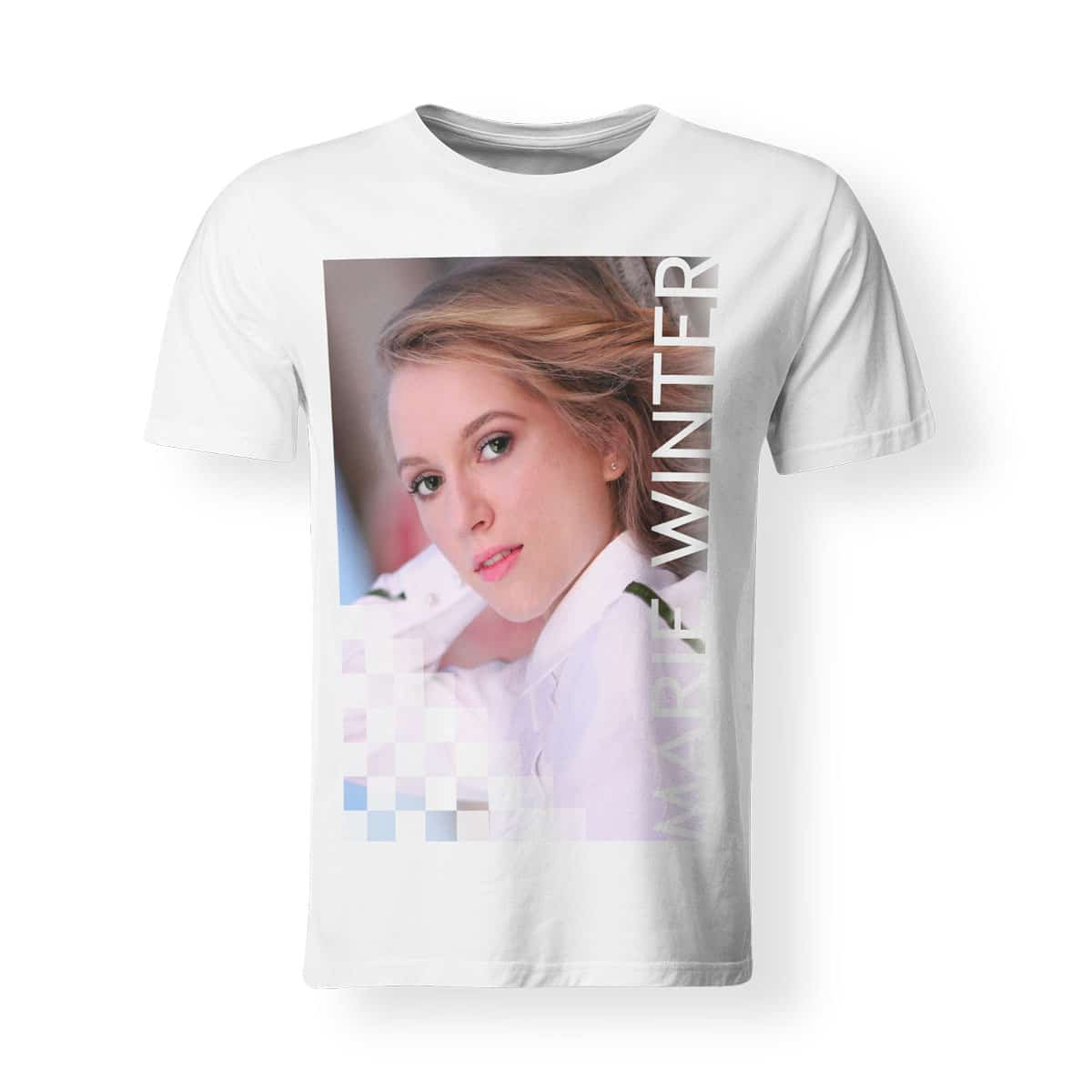 T-Shirt Marie Winter Foto Volles Risiko Herren weiß
