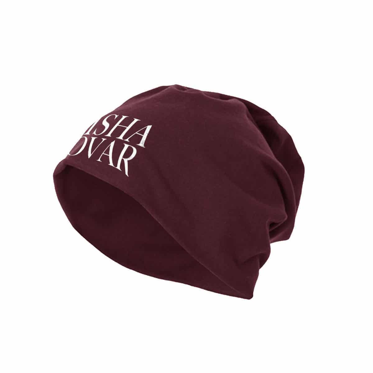Beanie Misha Kovar Logo burgundy