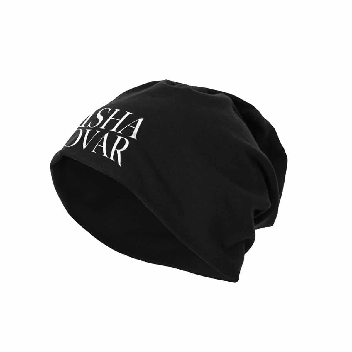 Beanie Misha Kovar Logo schwarz