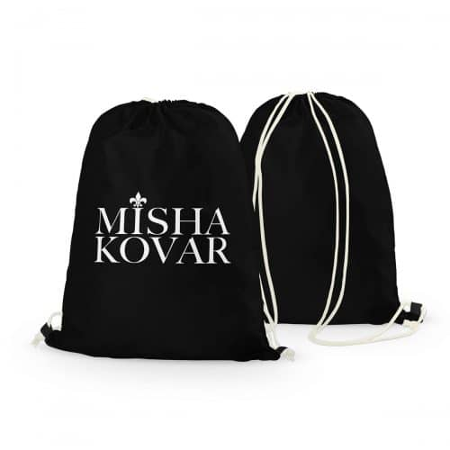 Rucksack Misha Kovar schwarz Logo