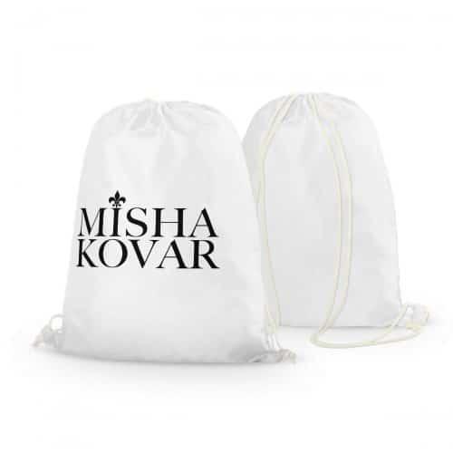Rucksack Misha Kovar weiß Logo