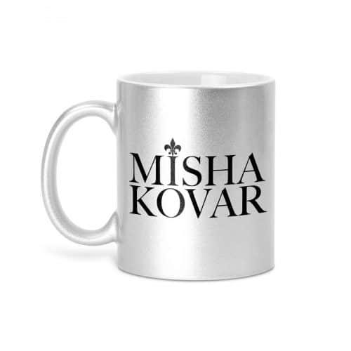 Misha Kovar Tasse silber glitzer
