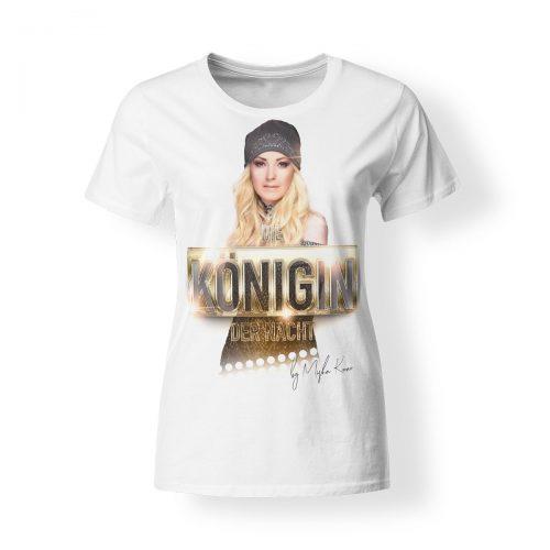 Misha Kovar T-Shirt Damen Königin der Nacht Foto weiß