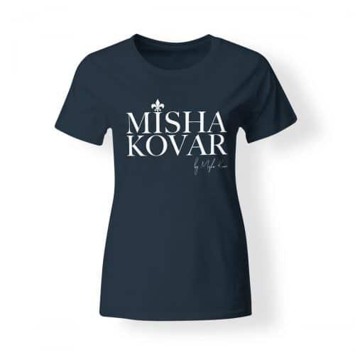 Misha Kovar T-Shirt Damen Logo navy