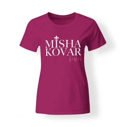 Misha Kovar T-Shirt Damen Logo pink