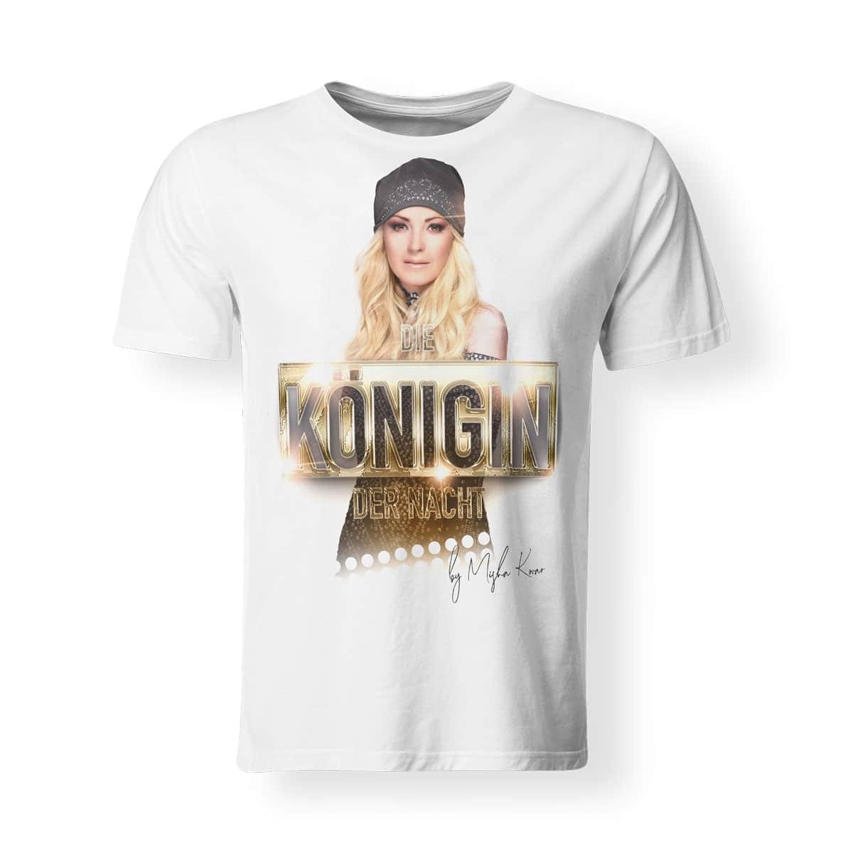 Misha Kovar T-Shirt Herren Königin der Nacht Foto weiß
