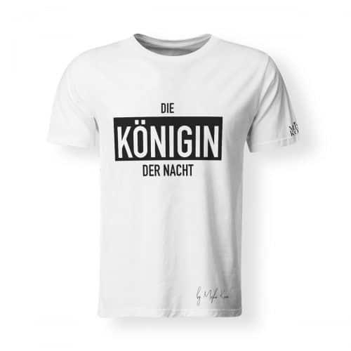 Misha Kovar T-Shirt Herren Königin der Nacht Logo schwarz